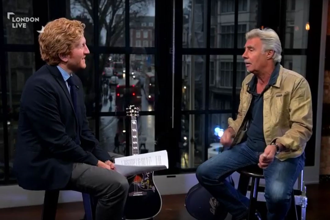 Glen Matlock talks to London Live's Luke Blackall