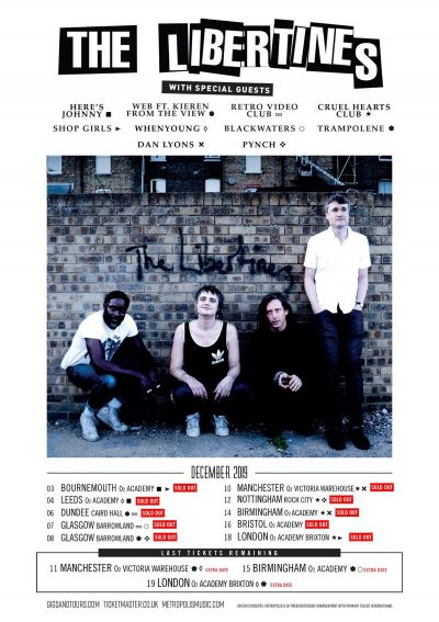 The Libertines Winter Tour 2019 with Dan Lyons Support