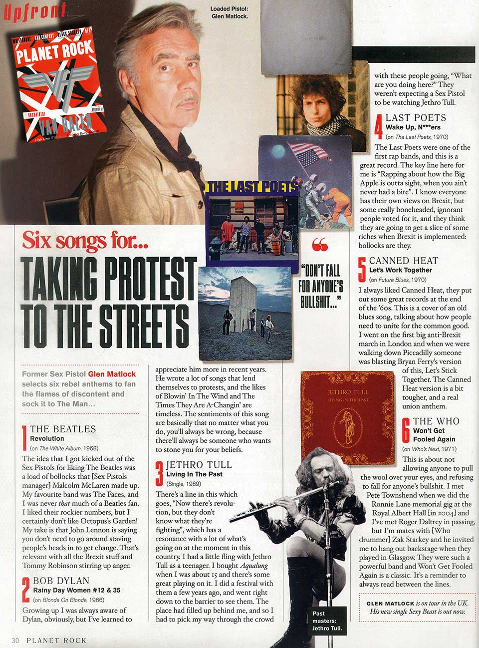 Glen Matlock Classic Rock Mag 6 Songs