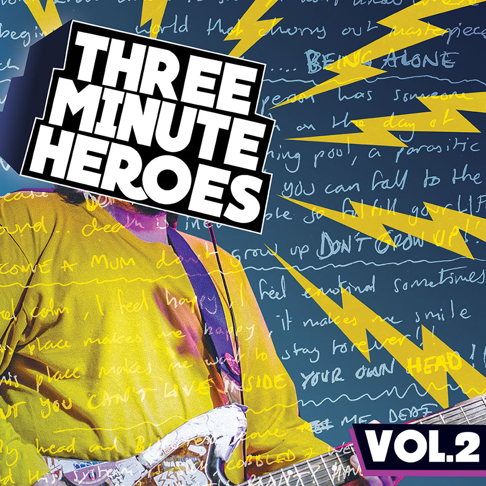 Warren Records - Various Artists - Three Minute Heroes Vol 2 - artwork